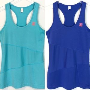 Bundle of Two FILA Sport Athletic Tank Tops SIZE S